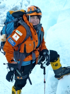 TA climbing through the Khumbu Icefall
