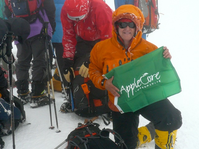 TA with AppleCore Interactive on the summit of Mount Elbrus