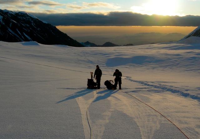 Early morning start on Denali