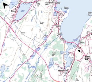 A Topo map of Tilton, Newfoundland