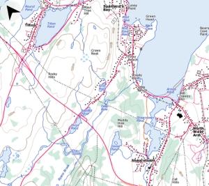 A Topo map of Tilton, Newfoundland