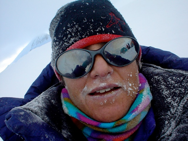 TA with a very cold nose on Denali having just arrived back at high camp after the long summit bid!