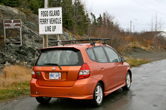 Tigger in the Fogo Island Ferry Line Up