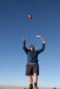 TA celebrating the Hat Trick of the Americas atop Tajulmulco (4220 meters)