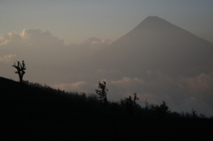 Volcan Aqua at Sunset