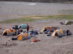 Camping on the Trek into Aconcagua
