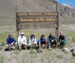 Setting out for Aconcagua
