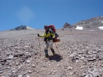 Descending the Normal Route on Aconcagua