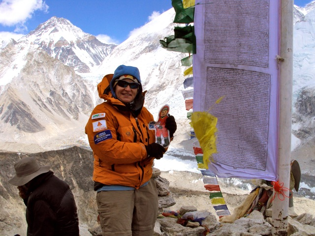 TA and Flat Stanley on Summit of Kala Patar