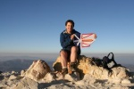 TA on the summit of Tajumulco with Newfoundland Flag