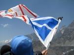 Flying the NL flag off of Nagarsang Peak