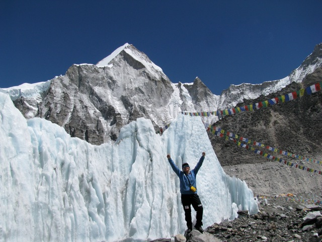 Celebrating in the Icefall