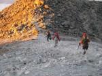 Descending from the summit of Tajumulco