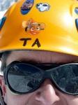 Stickers on TA's helmet
