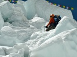 TA climbing through the icefall