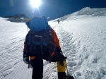 TA climbs the Lhotse Face towards Camp Three