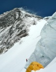 A climber heads for Camp Four