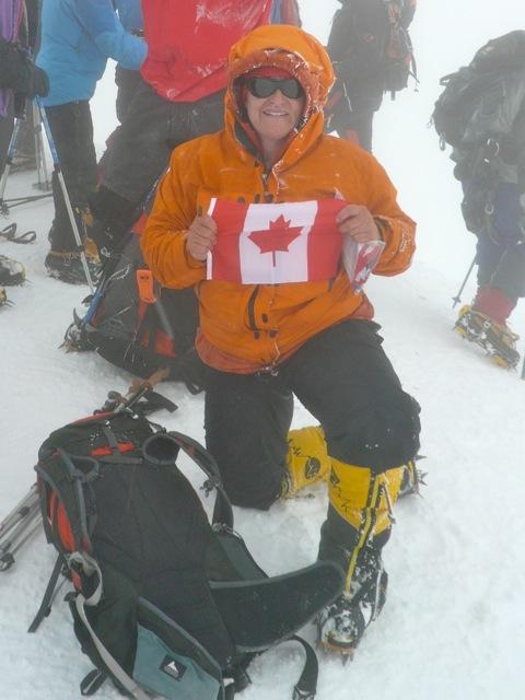 TA on the summit of Mount Elbrus