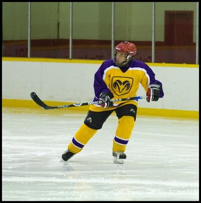 TA skating up the ice