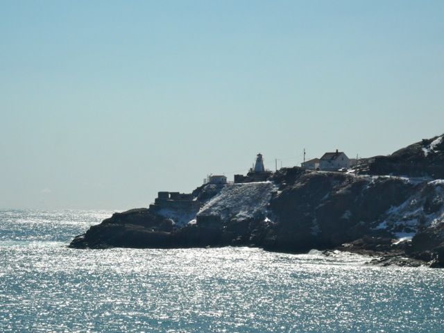 A view of the Fort Amherst Lighthouse from North Head Trail