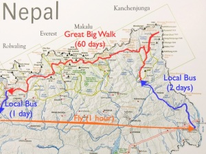 This is a map of our entire Great Big Walk Route