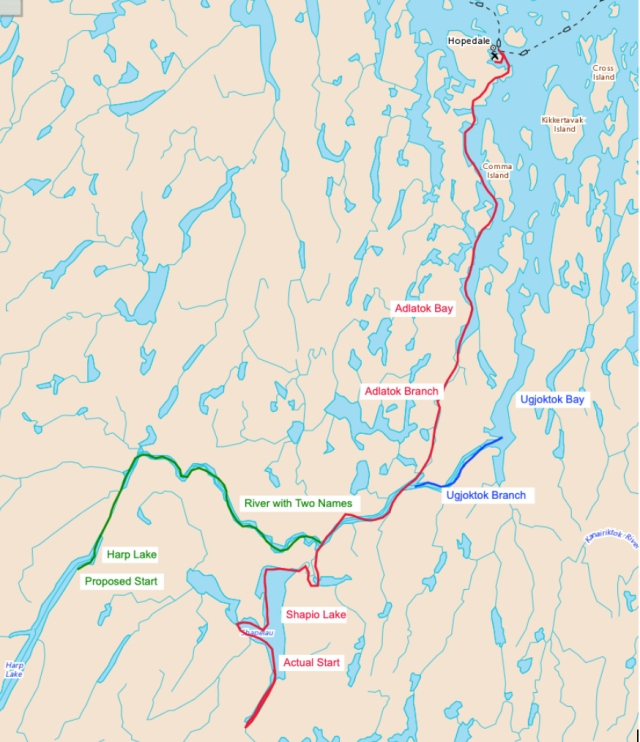 A map of our route